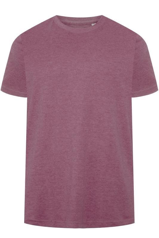T-Shirts BAR HARBOUR Purple Marl Plain Crew Neck T-Shirt 203318