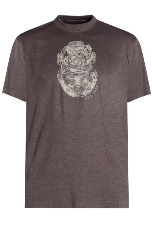 OLD SALT Mocha Graphic Print T-Shirt