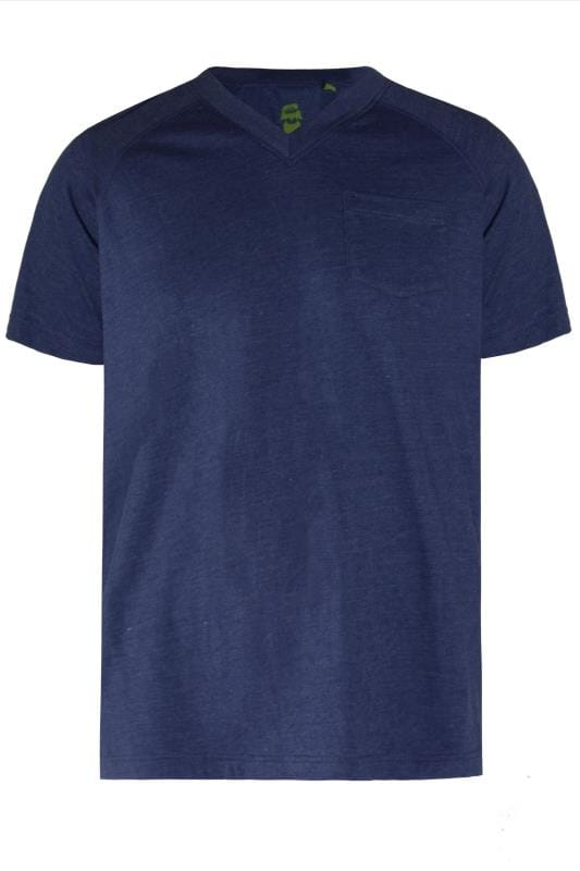Plus Size T-Shirts OLD SALT Navy Pocket T-Shirt