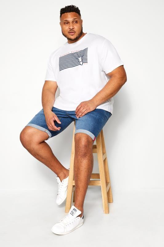 OLD SALT White 'Making Waves' Graphic Print T-Shirt