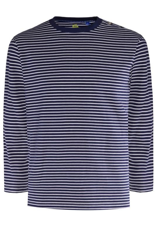Plus Size Sweatshirts OLD SALT Navy Stripe Jumper