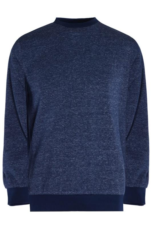 Plus Size Sweatshirts OLD SALT Navy Marl Sweatshirt