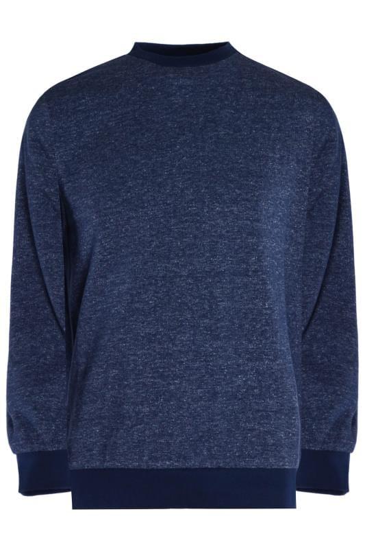 Großen Größen Sweatshirts OLD SALT Navy Marl Sweatshirt