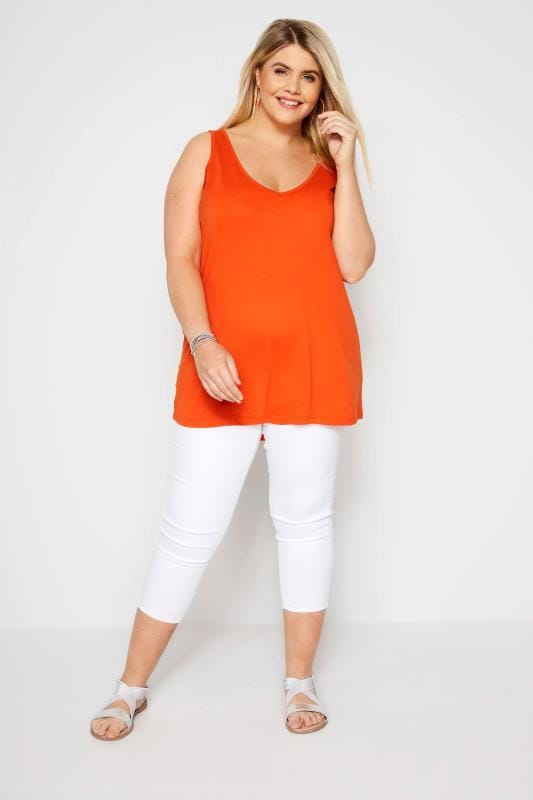 Orange Cross Back Vest
