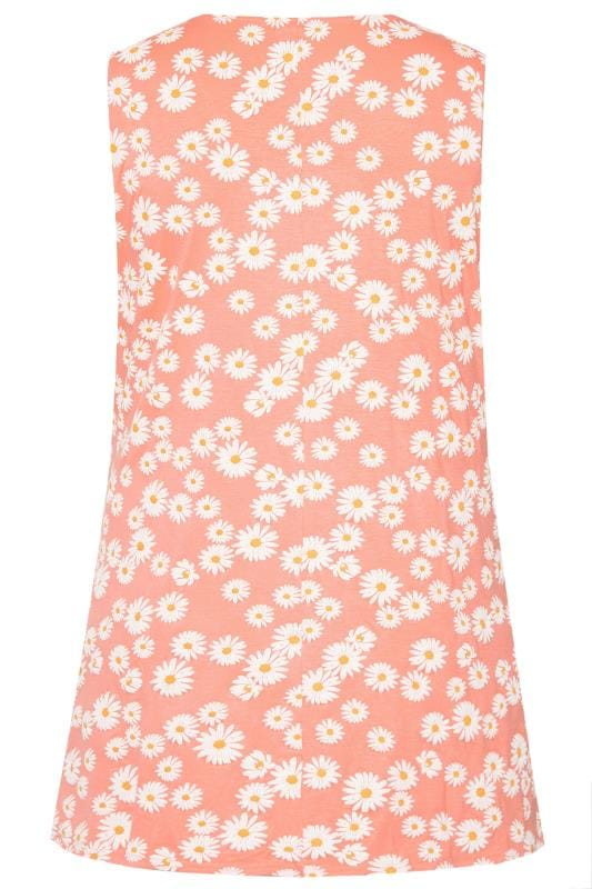Orange Daisy Swing Vest Top