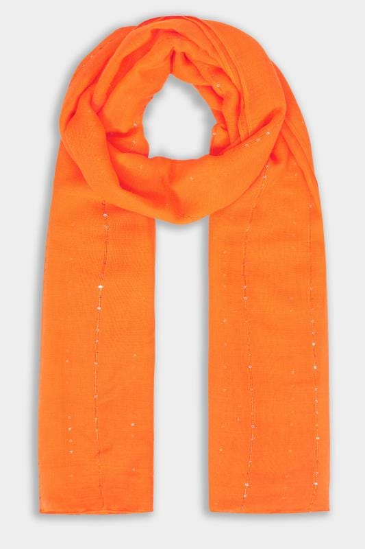 Orange Sparkle Scarf