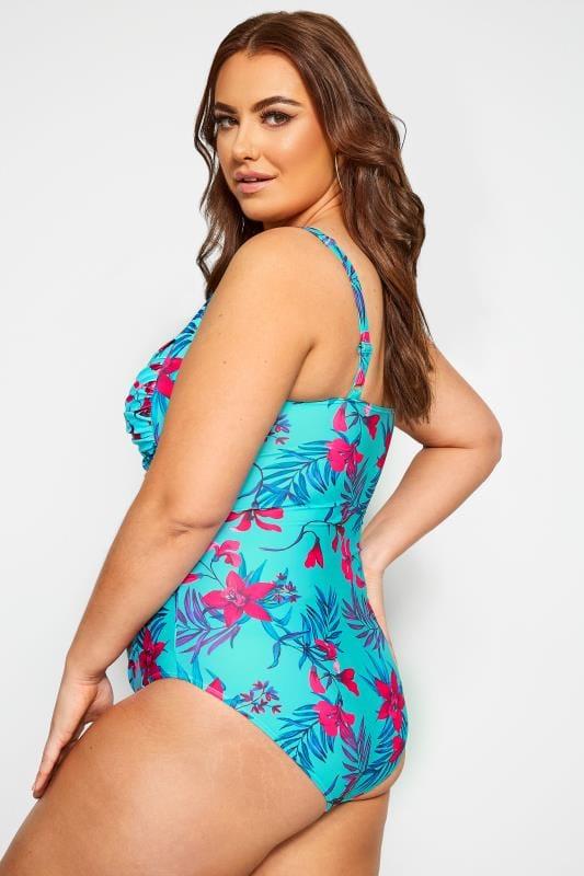 Aqua Blue Tropical Twist Swimsuit
