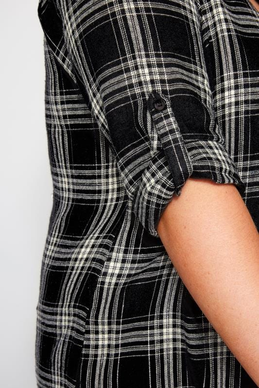 Black & White Overhead Metallic Check Shirt