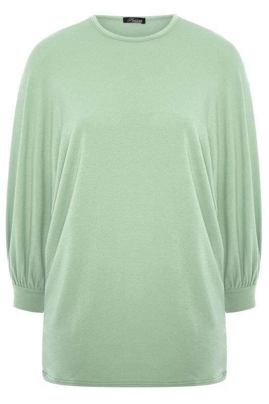 LIMITED COLLECTION Sage Green Oversized Batwing Sleeve Sweatshirt
