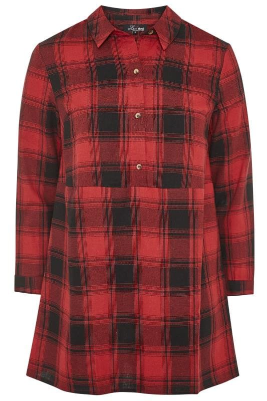 LIMITED COLLECTION Red Oversized Overhead Check Shirt