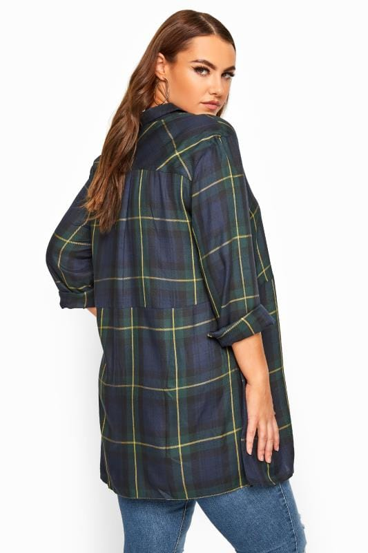 LIMITED COLLECTION Green Oversized Overhead Check Shirt
