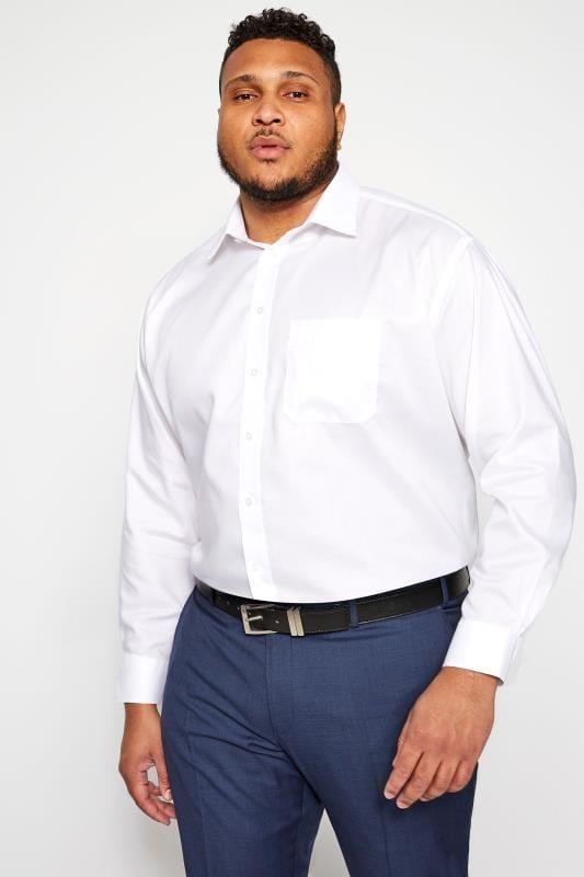 PARADIGM White Non-Iron Luxury Long Sleeve Formal Shirt