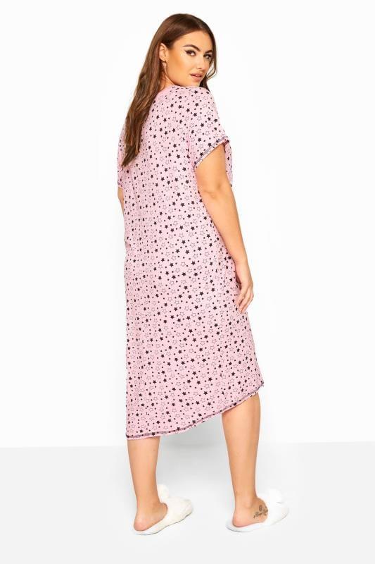 Nachthemd mit Sternchen - Pink