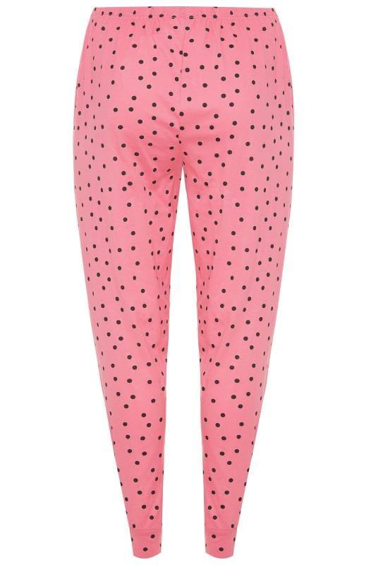 Pink Polka Dot Pyjama Bottoms