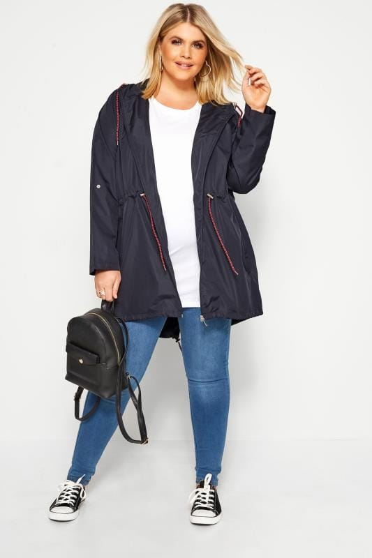Navy Pocket Parka Jacket