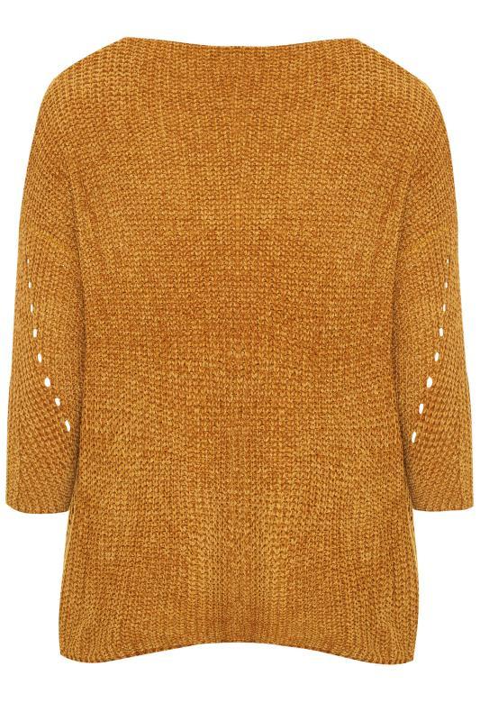 PRASLIN Gold Chenille Knitted Jumper