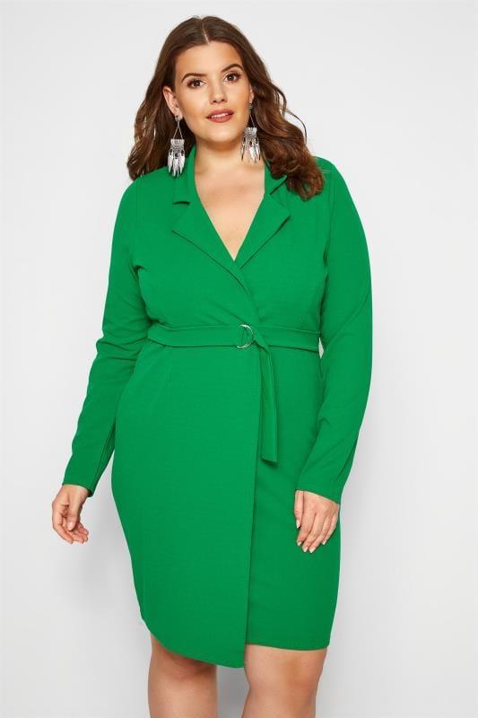 PRASLIN Wickelkleid mit Gürtel - Grün