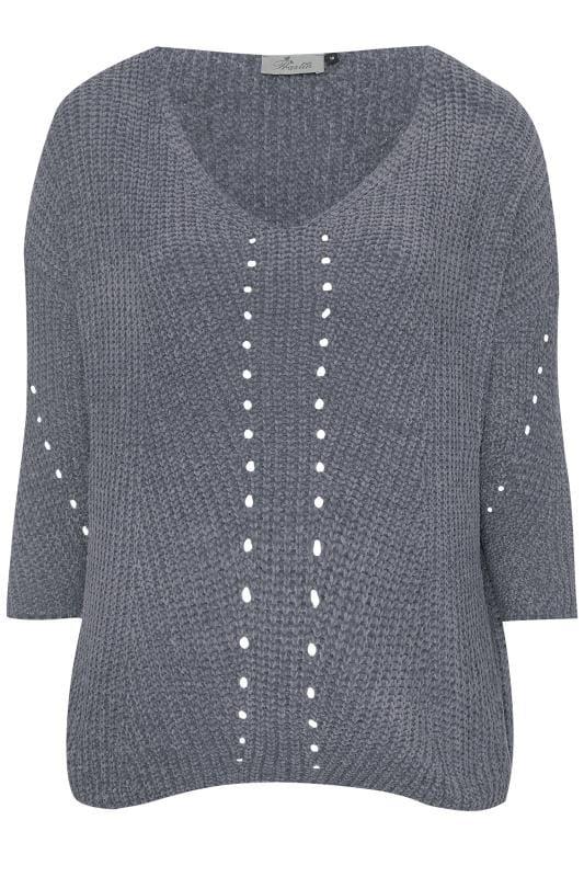 PRASLIN Grey Chenille Knitted Jumper