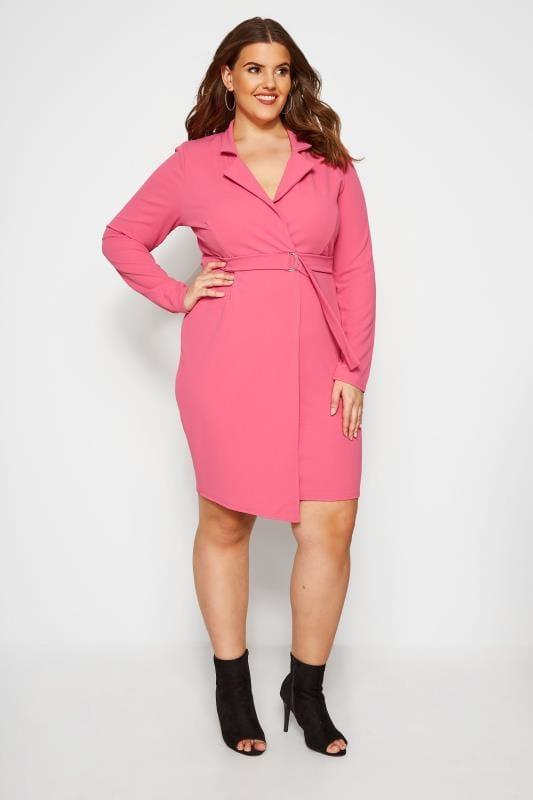 Praslin Vestido Blazer Rosa Tallas Grandes 44 A 54