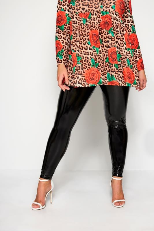 LIMITED COLLECTION Black PVC Leggings