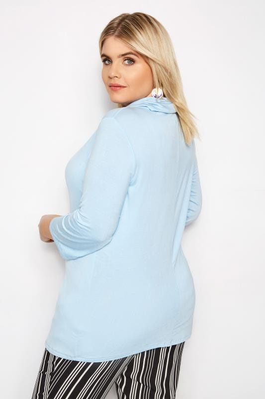 LIMITED COLLECTION Pale Blue Cowl Neck Top
