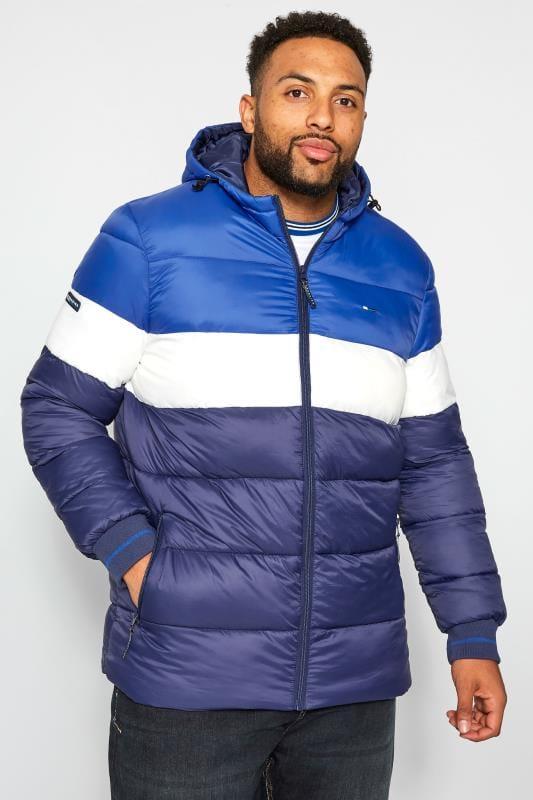 BadRhino Navy, Blue & White Padded Coat