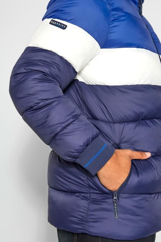 BadRhino Navy, Blue & White Padded Coat