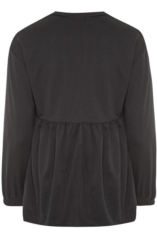 Black Peplum Sweatshirt