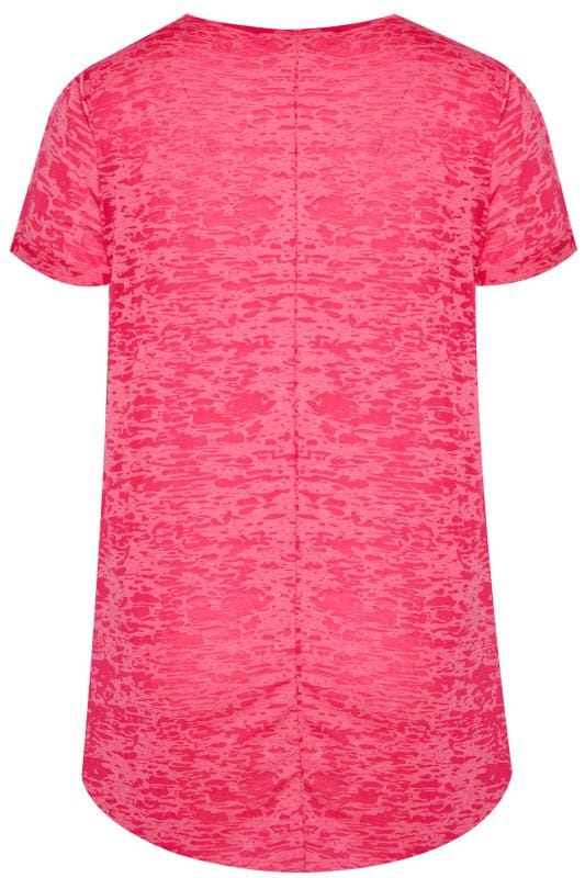 Pink Burnout 'Jadore' Slogan Print Foil T-Shirt