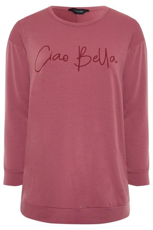 Pink 'Ciao Bella' Slogan Sweatshirt
