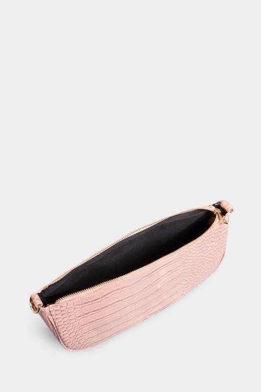 Pink Croc Shoulder Bag
