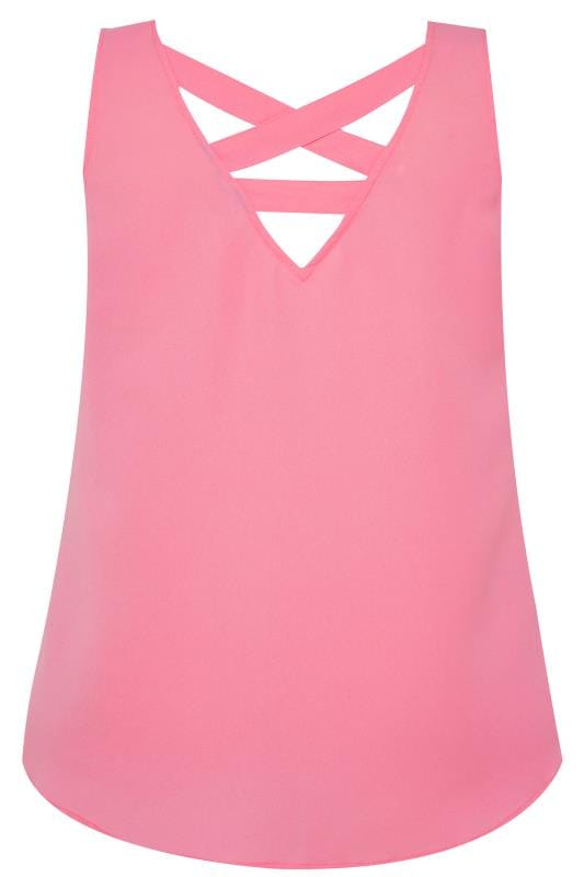 Pink Cross Back Cami