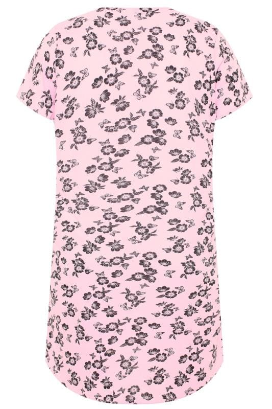 Pink Floral Butterfly Nightdress