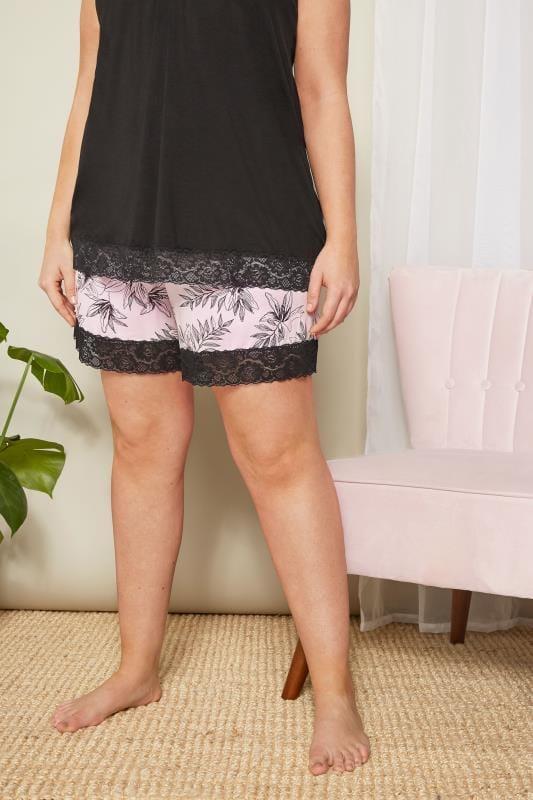 Pink Floral Loungewear Shorts