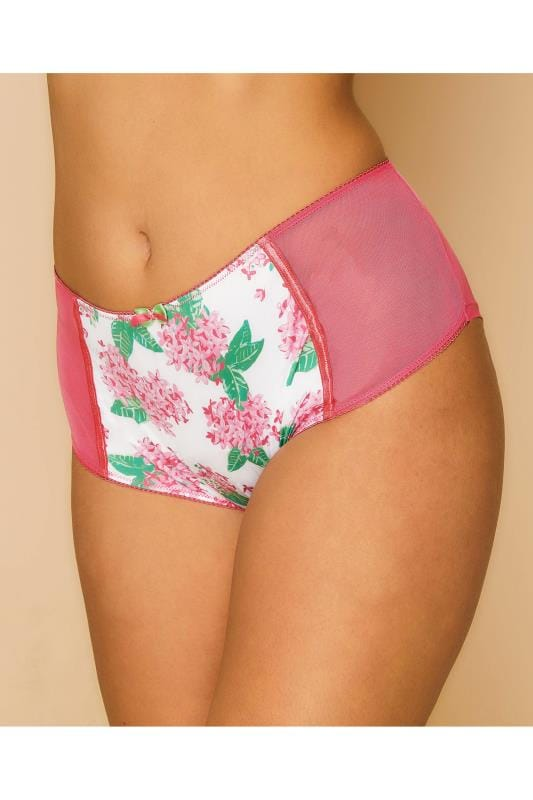 Pink Floral Print Full Briefs