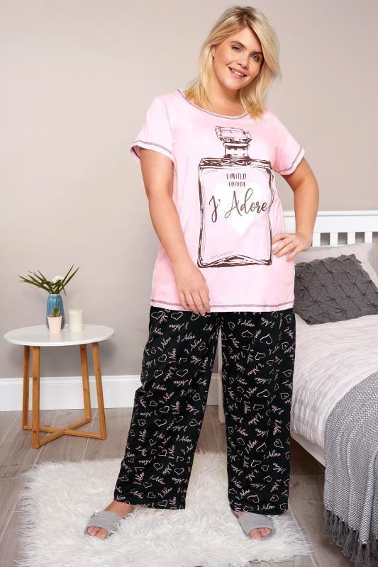 premium selection 9e211 27cb1 Pyjama mit Schriftzug 'J'Adore' - Rosa