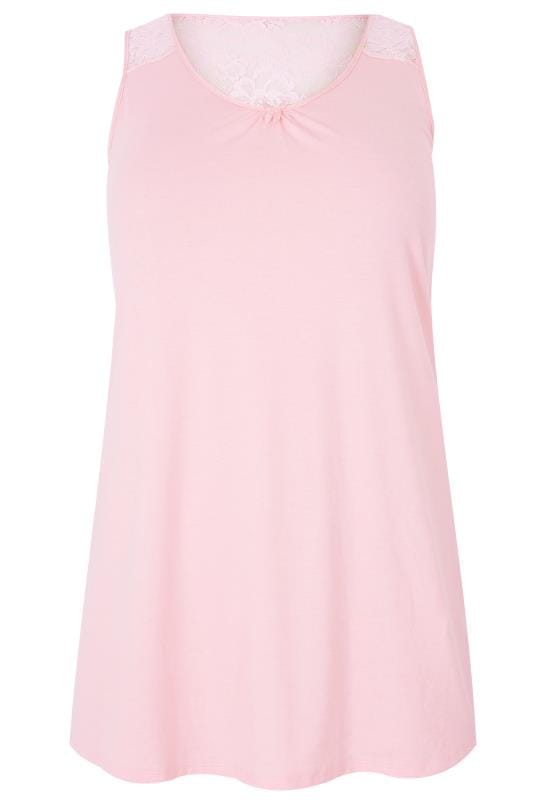 Pink Lace Loungewear Vest Top