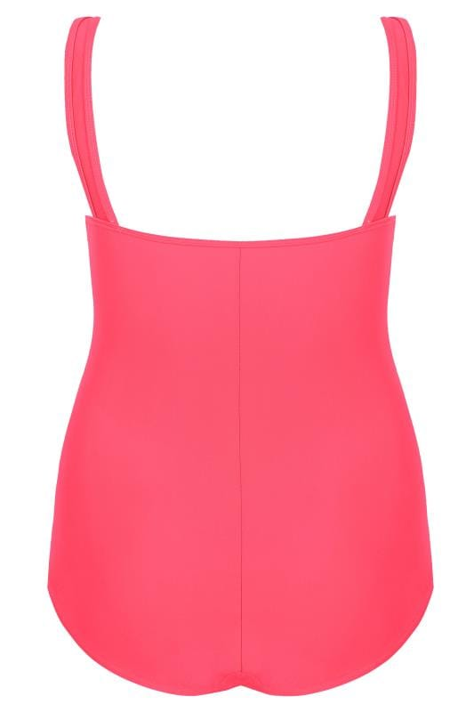 Pink Lattice Swimsuit