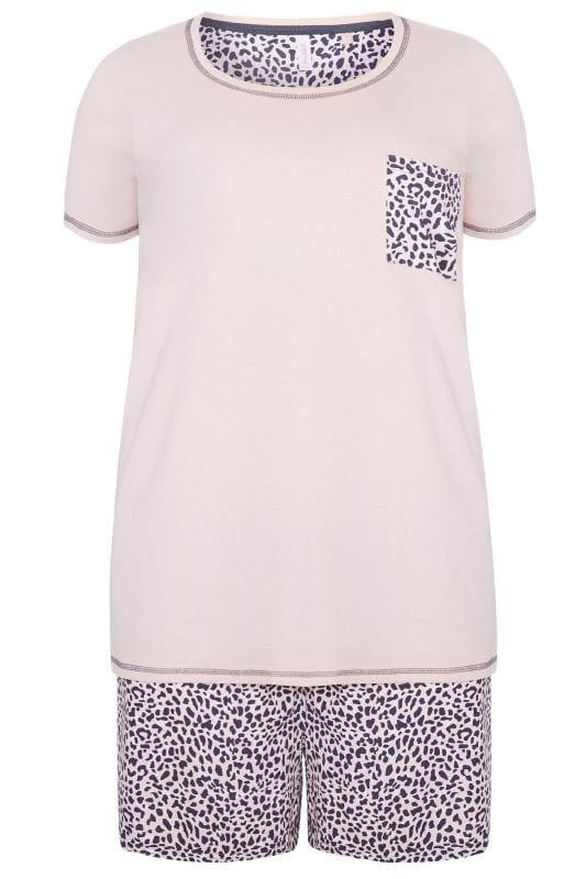 Pink Leopard Print PJ Short Set