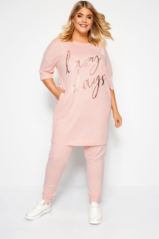 Plus Size Loungewear Pink Lounge Pants
