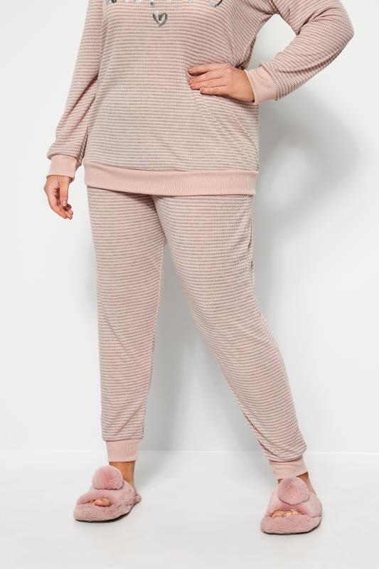 Pink Marl Stripe Lounge Pants