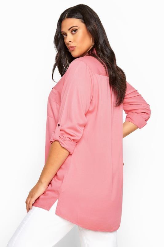 Pink Oversized Boyfriend Shirt