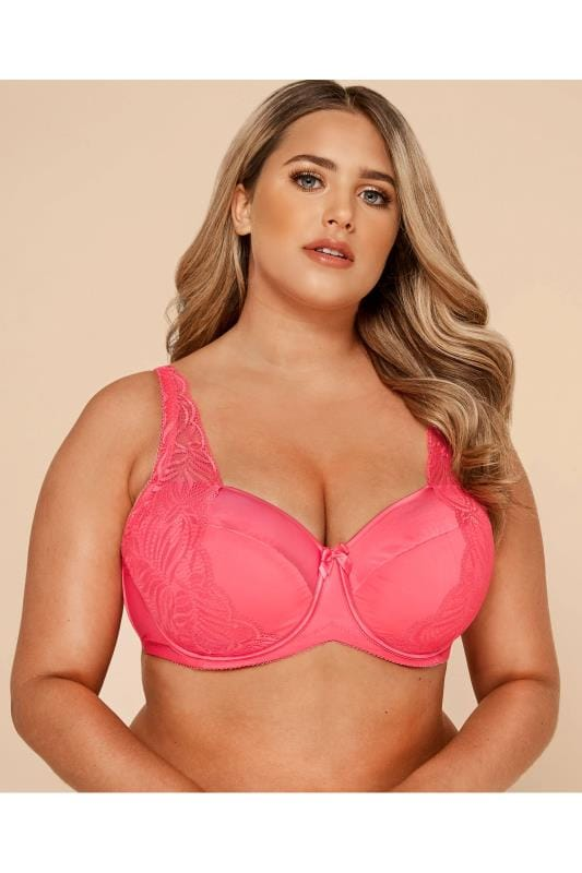 Pink Satin & Lace Wired Bra