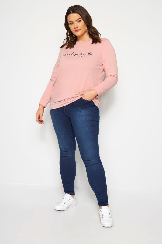 Pink Slogan Sweatshirt