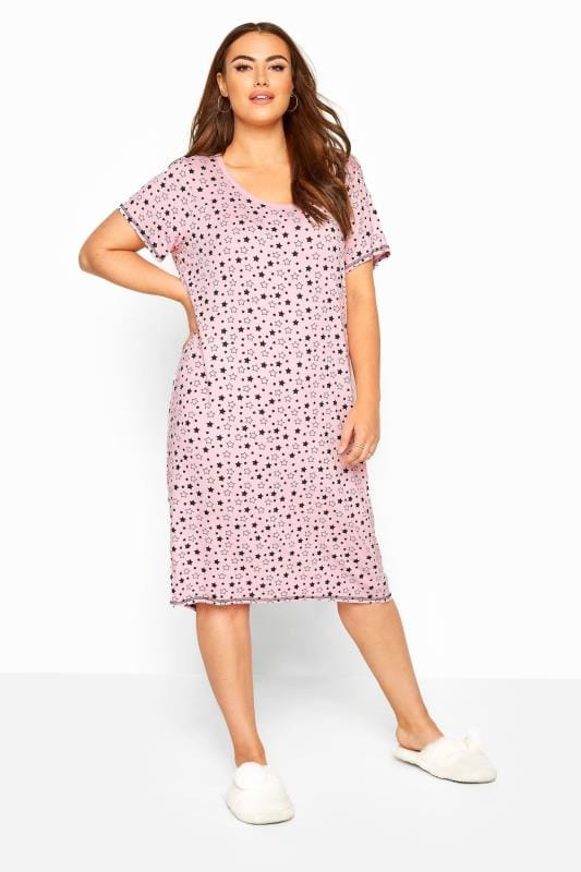 Pink Star Print Nightdress