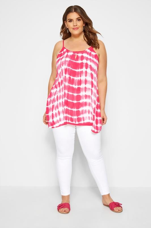 Pink Tie Dye Vest Top