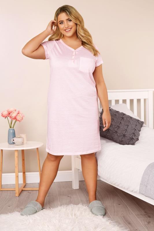 Pink & White Striped Nightdress