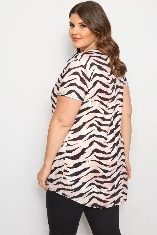 Pink Zebra Print T-Shirt