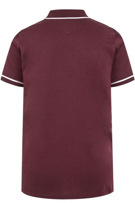 BadRhino Burgundy Tipped Logo Polo Shirt