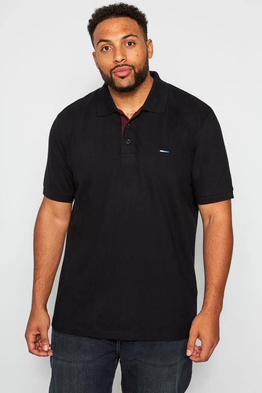 Plus Size Polo Shirts BadRhino Black Premium Stretch Polo Shirt
